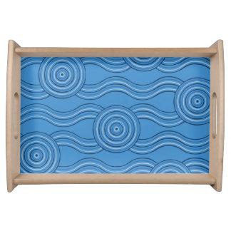 Bandeja Oceano aborígene da arte