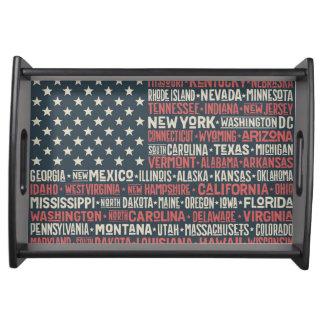 Bandeja Os Estados Unidos da América |States & capitais