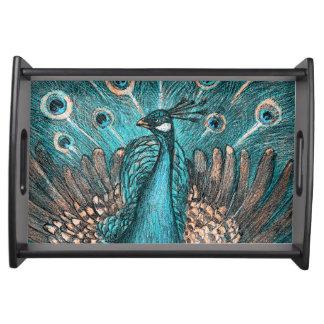 Bandeja pavão azul