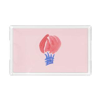 Bandeja pequena do serviço do retângulo do balão