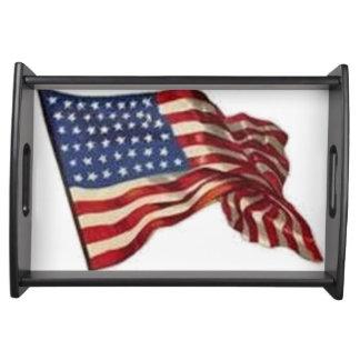 Bandeja Pode por muito tempo acena - a bandeira