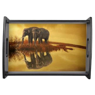 Bandeja Por do sol dos elefantes