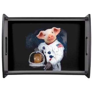 Bandeja Porco do astronauta - astronauta do espaço