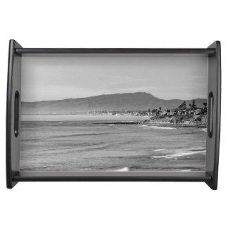 Bandeja Praia sul preto e branco de Carlsbad