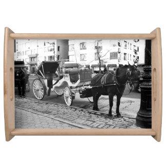 Bandeja Presentes do Central Park do cavalo e da carruagem