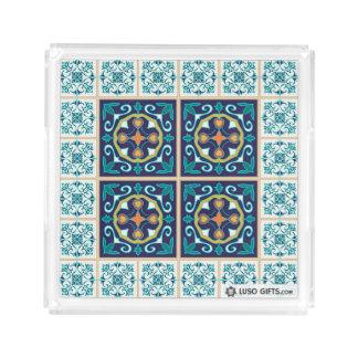 Bandeja quadrada pequena do azulejo de Azulejo do