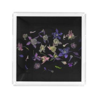 Bandeja quadrada pequena mágica da flor