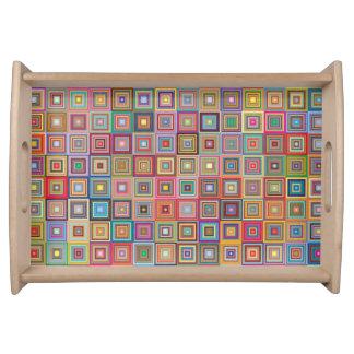 Bandeja Quadrados retros abstratos coloridos