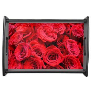 Bandeja Rosas vermelhas