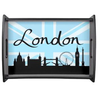 Bandeja Roteiro de Londres no céu & nos locais de Union