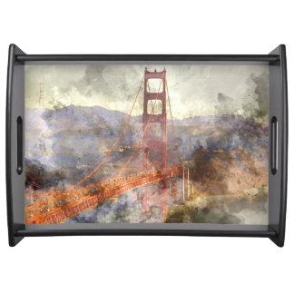 Bandeja San Francisco golden gate bridge em Califórnia
