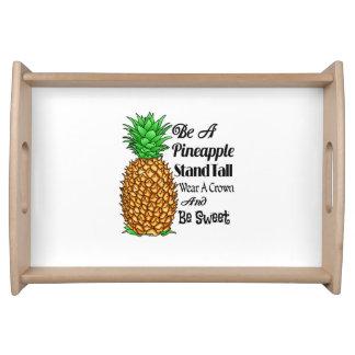 Bandeja Seja um desgaste que alto do suporte do abacaxi
