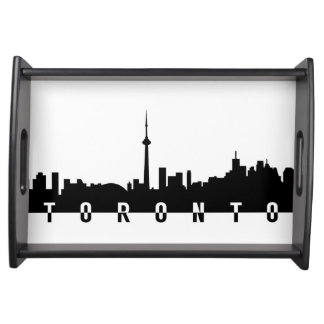 Bandeja silhoue do preto do símbolo da cidade de Canadá da