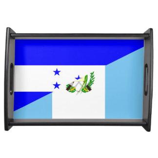 Bandeja símbolo da bandeira do país de honduras guatemala