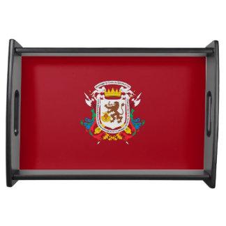 Bandeja símbolo de venezuela da bandeira da cidade de