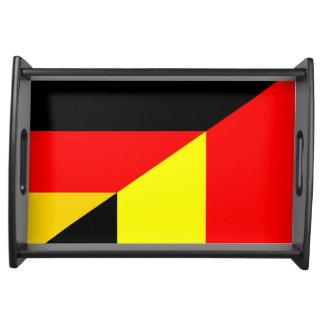 Bandeja símbolo do país da bandeira de Alemanha Bélgica