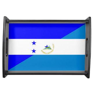 Bandeja símbolo do país da bandeira de honduras Nicarágua