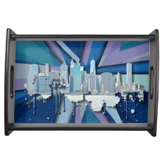 Bandeja Skyline | 3D azul da Nova Iorque