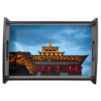 Bandeja Telhado budista de Dzong