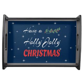 Bandeja Tenha um Natal alegre do azevinho