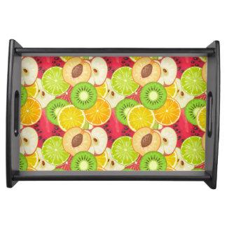 Bandeja Teste padrão colorido da fruta do divertimento