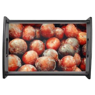 Bandeja Teste padrão da fruta da ameixa