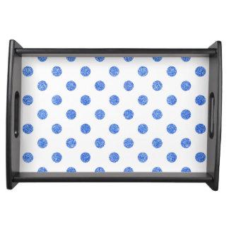 Bandeja Teste padrão de bolinhas azul elegante do brilho