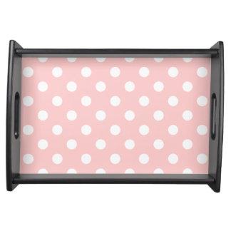 Bandeja Teste padrão de bolinhas cor-de-rosa e branco