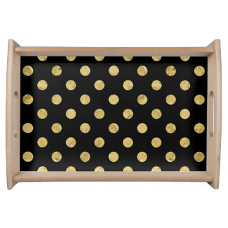 Bandeja Teste padrão de bolinhas elegante da folha de ouro