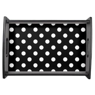 Bandeja Teste padrão de bolinhas preto e branco
