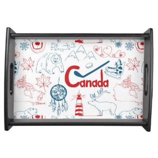 Bandeja Teste padrão dos símbolos de Canadá  