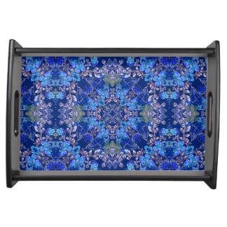 Bandeja Teste padrão floral da aguarela do lux lunático à