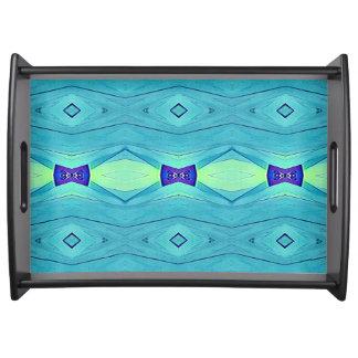 Bandeja Teste padrão roxo azul da cerceta Pastel chique