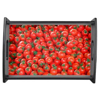 Bandeja Teste padrão vermelho dos tomates de cereja