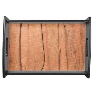 Bandeja Textura de madeira