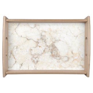 Bandeja Textura de mármore branca do falso