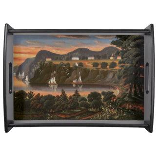 Bandeja Veleiros o Rio Hudson West Point que serve a