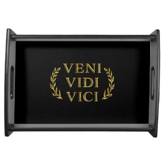 Bandeja Vencedor engraçado do jogo de Veni Vidi Vici