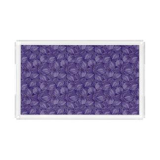 Bandeja violeta da vaidade dos figos