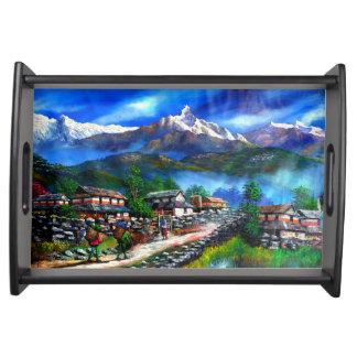 Bandeja Vista panorâmica da montanha Nepal de Everest