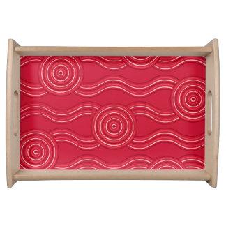 Bandeja Waratah aborígene da arte