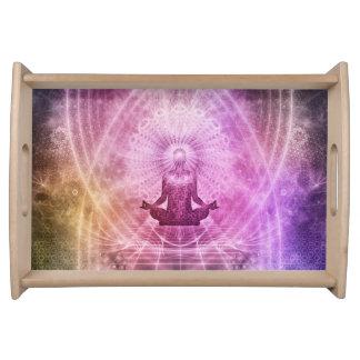 Bandeja Zen espiritual da meditação da ioga colorido