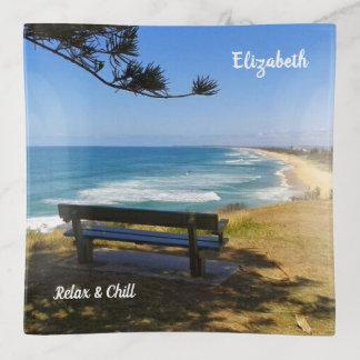 Bandejas A costa Austrália da luz do sol relaxa e refrigera