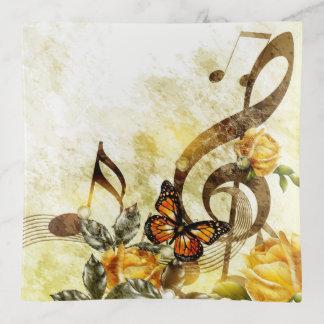 Bandejas A música da borboleta nota a bandeja do Trinket