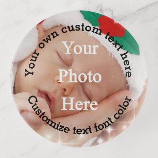 Bandejas Adicione seu modelo da foto e do texto