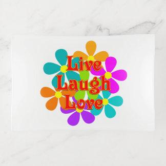 Bandejas Amor vivo do riso do divertimento