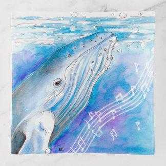 Bandejas Arte da canção da baleia azul