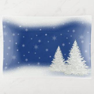 Bandejas Árvore do White Christmas
