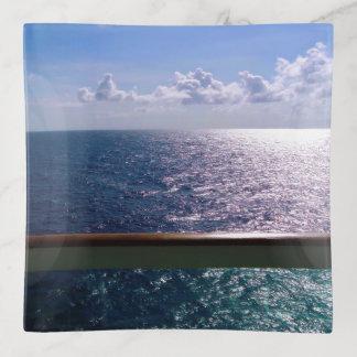 Bandejas Azul de oceano cénico