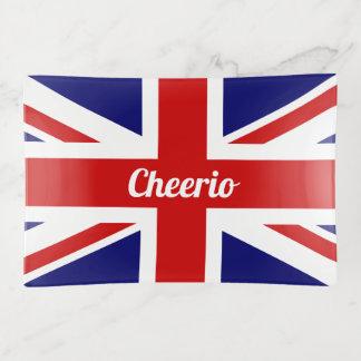 Bandejas Bandeira de Cheerio Union Jack do Reino Unido